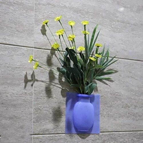 Removable Silicone Vases Strong Adhesion Magic Flower Pot Kitchen 9