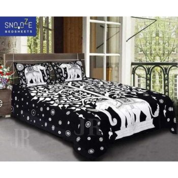 Snooze Cotton Printed Double Bedsheet