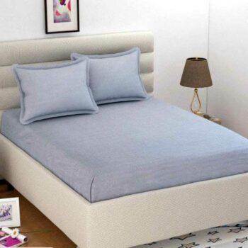 Solid Microfiber Double Bedsheet