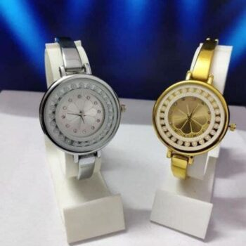 Stainless Steel Analog Watch for Women (Pack of 2)