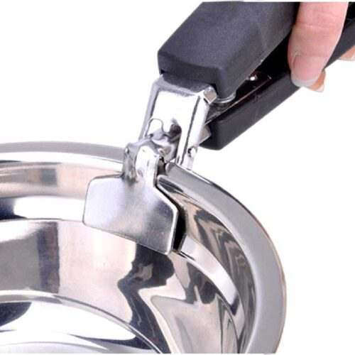 Stainless Steel Home Kitchen Anti Scald Plate Take Bowl Dish Pot Holder Carrier Clamp Clip Handle Colour May Vary 4