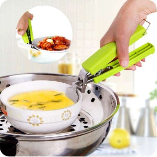 Stainless Steel Home Kitchen Anti Scald Plate Take Bowl Dish Pot Holder Carrier Clamp Clip Handle Colour May Vary 6