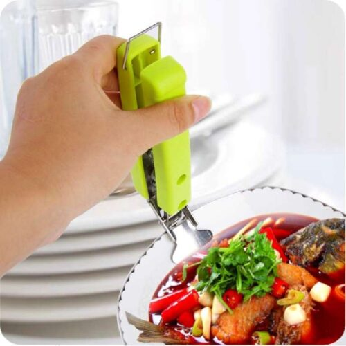 Stainless Steel Home Kitchen Anti Scald Plate Take Bowl Dish Pot Holder Carrier Clamp Clip Handle Colour May Vary 7