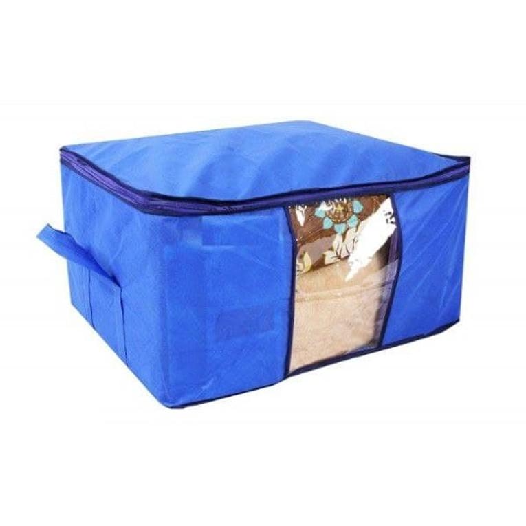 Storage Organizer, Underbed Storage Bag, Blanket Cover with Side Handles (Set of 6)