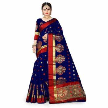 Stunning Banarasi Silk Saree With All Over Jacquard Weaving Work