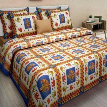Supple Traditional Cotton Double Bedsheet
