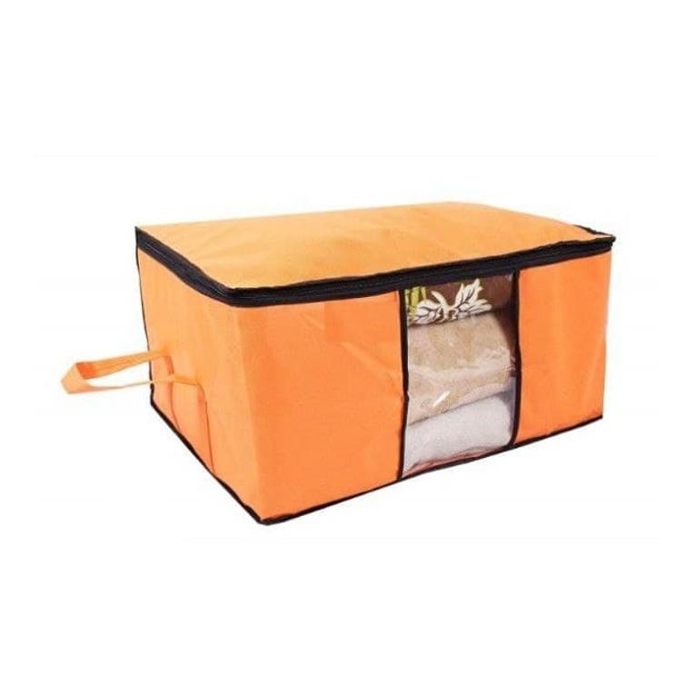 Underbed Storage Bag Storage Organizer Blanket Cover with Side Handles Set of 3 11