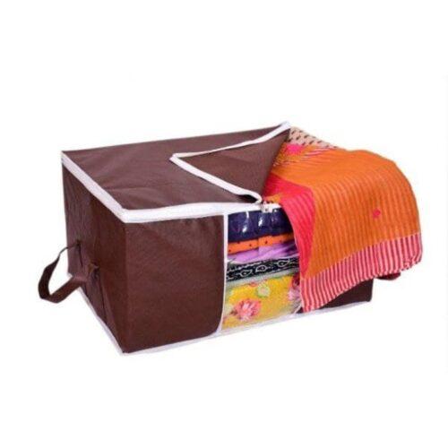 Underbed Storage Bag Storage Organizer Blanket Cover with Side Handles Set of 3 14