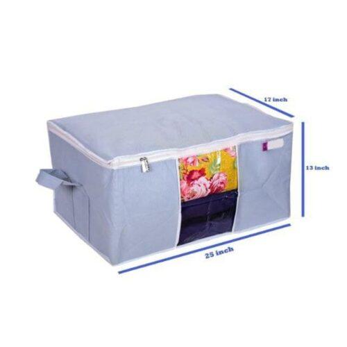 Underbed Storage Bag Storage Organizer Blanket Cover with Side Handles Set of 3 2