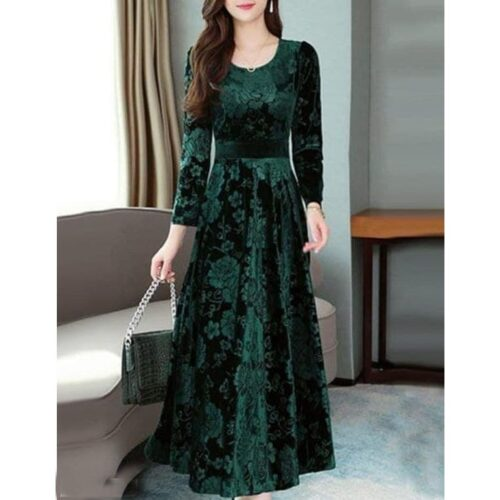 Verve Studio Solid Velvet Gown