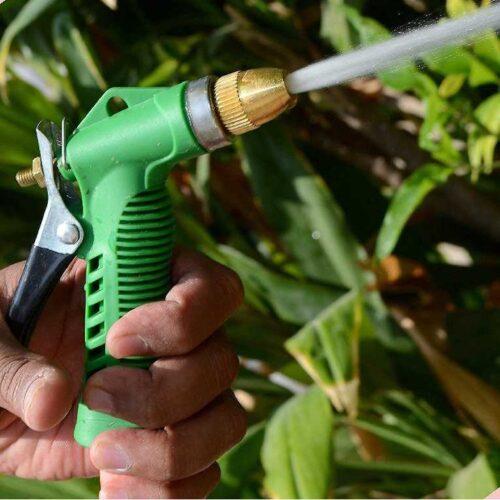 Water Spray Gun Multi Purpose Brass Nozzle Water Sprayer for Bike Gardening Car Wash High Pressure Washer Free Pipe Clamp Aluminum 2