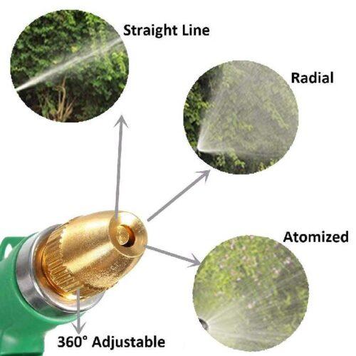 Water Spray Gun Multi Purpose Brass Nozzle Water Sprayer for Bike Gardening Car Wash High Pressure Washer Free Pipe Clamp Aluminum 3