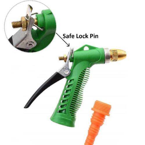 Water Spray Gun Multi Purpose Brass Nozzle Water Sprayer for Bike Gardening Car Wash High Pressure Washer Free Pipe Clamp Aluminum 4