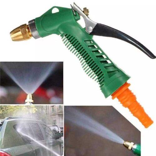 Water Spray Gun Multi Purpose Brass Nozzle Water Sprayer for Bike Gardening Car Wash High Pressure Washer Free Pipe Clamp Aluminum 5