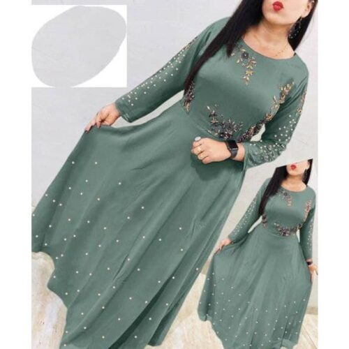 Women's Georgette Embroidered Gown