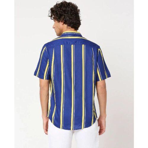 Yolo Yellow Stripe Shirt for Men 1
