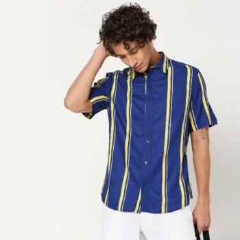 Yolo Yellow Stripe Shirt for Men