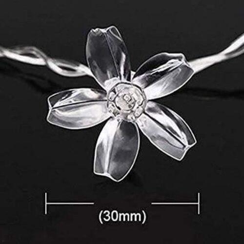 16 LED Decorative Silicone Flower String LED Lights 4