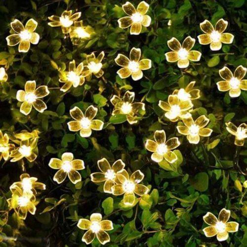 16 LED Decorative Silicone Flower String LED Lights