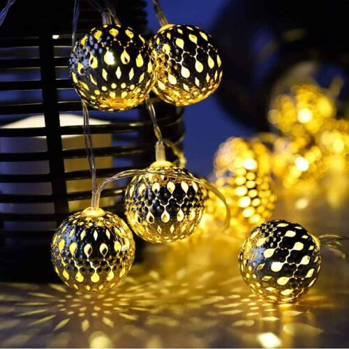 16 LED Hanging Lantern String Ball Lights Plug Sourced |for Indoor & Outdoor Decorations(Warm White) Multicolor