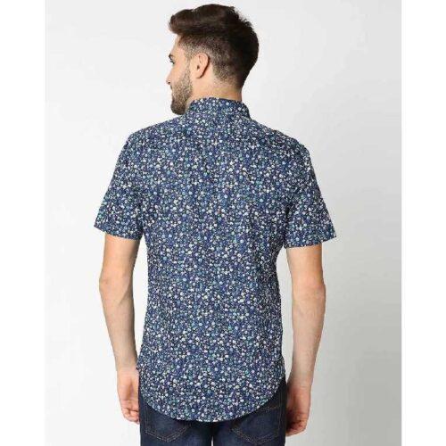 AOP Satin Print Half Sleeve Shirt 1