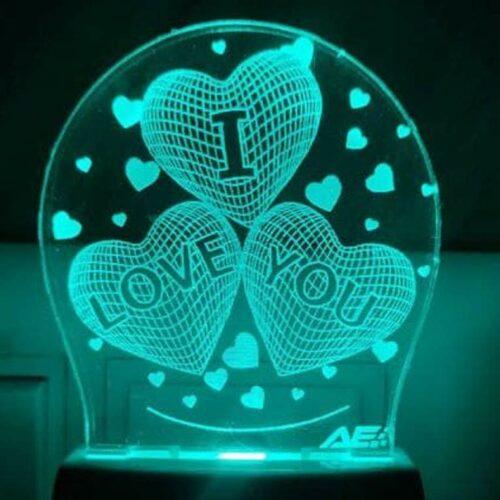 I Love You LED 3D Illusion Night Lamp
