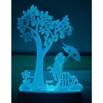Acrylic 7 Color Changing LED 3D Illusion Night Lamp