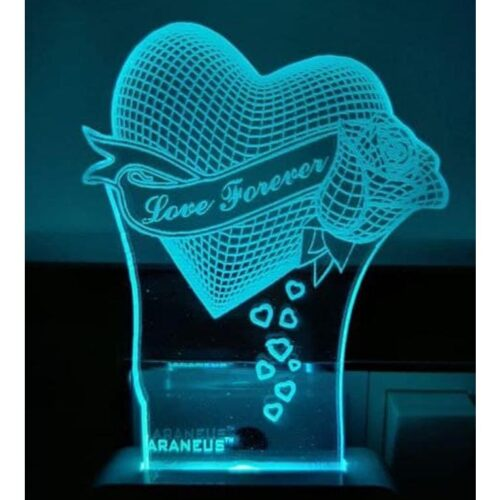 Love Forever LED 3D Illusion Night Lamp