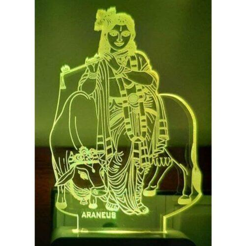 Lord Krishna LED 3D Illusion Night Lamp