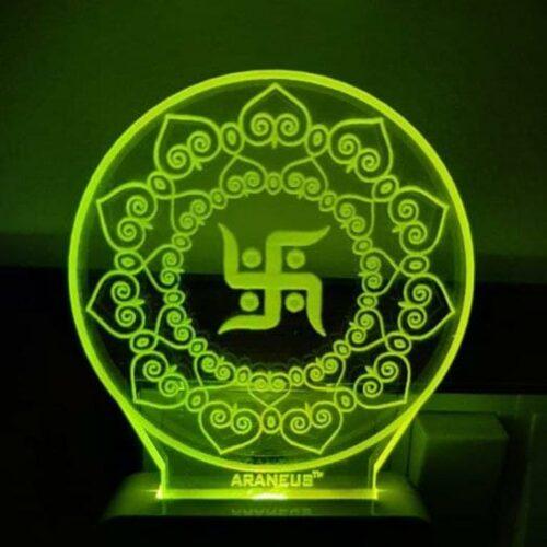 Swastik LED 3D Illusion Night Lamp