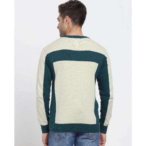 Aloe Wash Color Block Flat Knit Sweater