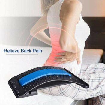 Back Massager- 3 Levels Adjustable Back Stretching Spine Deck Posture Massager