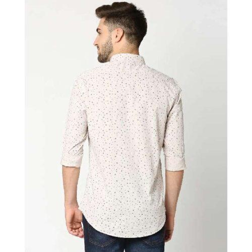 Beige Cotton Melange Shirt