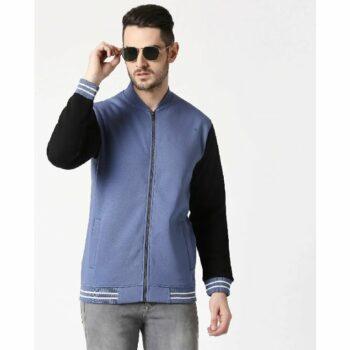 Moonlight Blue Varsity Bomber Jacket
