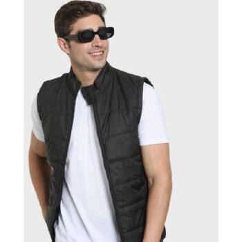 Black Sleeveless Puffer Jacket