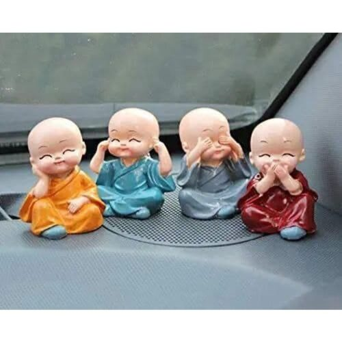 Polyresin Cute Baby Monks Showpiece (Set of 4)
