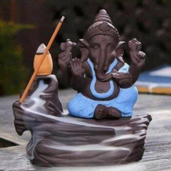 Lord Ganesha Smoke Fountain With 10 Smoke Cones