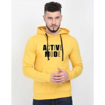 Cotton Blend Slogan Regular Full Sleeves Hoodie for Men - Active Mood Hoodie