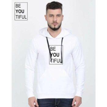 Cotton Blend Slogan Regular Full Sleeves Hoodie for Men - Be You Titful Hoodie