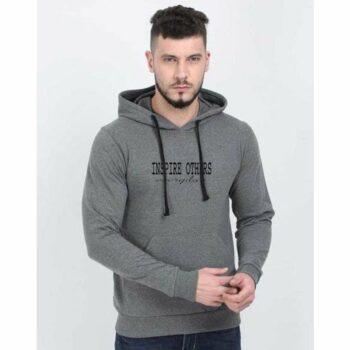 Cotton Blend Slogan Regular Full Sleeves Hoodie for Men - Inspire Others Everyday Hoodie