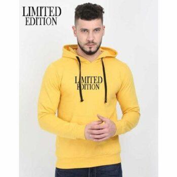 Cotton Blend Slogan Regular Full Sleeves Hoodie for Men - Limited Edition Hoodie