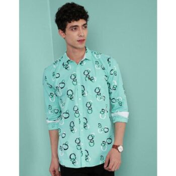 Cotton Printed Full Sleeves Slim Fit Casual Shirt