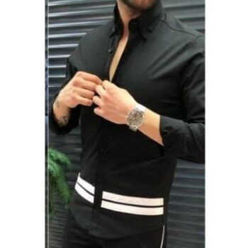 Cotton Stripes Slim Fit Full Sleeves Casual Shirt