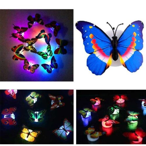 Cute Butterflies Multicolor LED Flashing Light for Fridge Night use in Bedroom Walls Light Up Night Light in The Dark Butterflies 1
