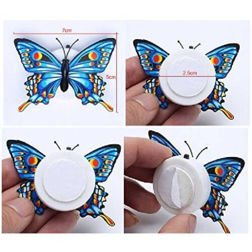 Cute Butterflies Multicolor LED Flashing Light for Fridge Night use in Bedroom Walls Light Up Night Light in The Dark Butterflies 2