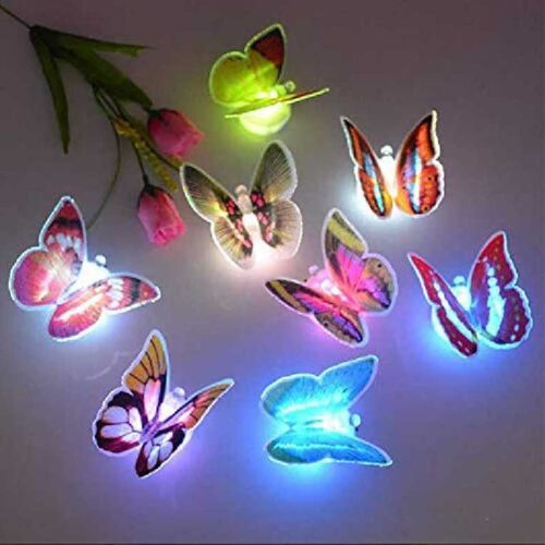 Cute Butterflies Multicolor LED Flashing Light for Fridge Night use in Bedroom Walls Light Up Night Light in The Dark Butterflies 6