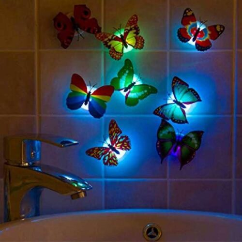 Cute Butterflies Multicolor LED Flashing Light for Fridge Night use in Bedroom Walls Light Up Night Light in The Dark Butterflies 7