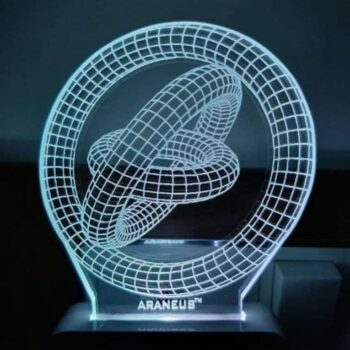 Double Ring LED 3D Illusion Night Lamp