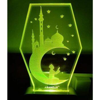 Eid Mubarak LED 3D Illusion Night Lamp