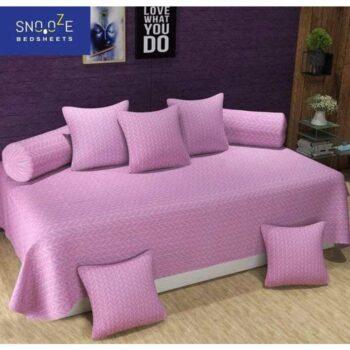 Elegant Poly Cotton 8 Pieces Diwan Set